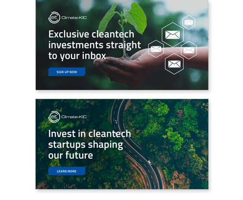 Climate KIC Banner Ads