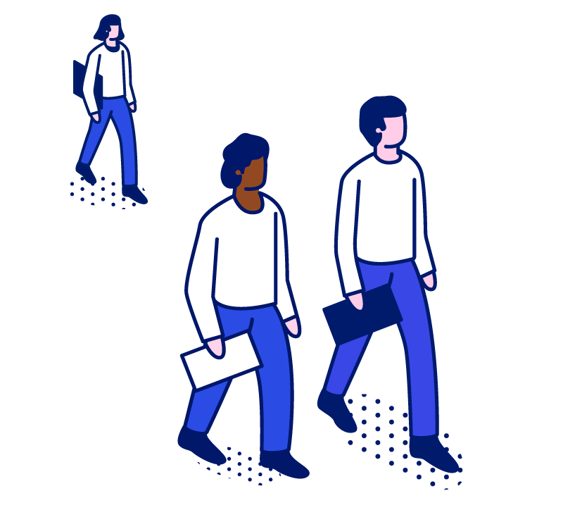 Three-People-Walking-and-Holding-a-Document-each